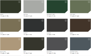 colour chart one